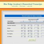 Recording a student's grades